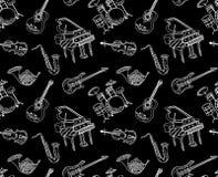 乐器无缝的样式 图库摄影
