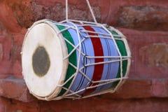乐器dhol 图库摄影