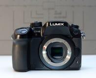 乐声牌Lumix DMC-GH4 mirrorless照相机 库存照片