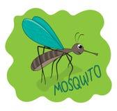乐趣例证逗人喜爱的蚊子 Gant微笑 图库摄影