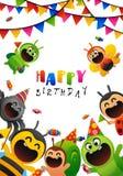 乐趣党生日昆虫和甜点 图库摄影