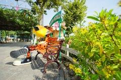 乐趣公园的里面看法在巴吞他尼府, T说出Dream World名字 库存照片