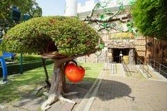 乐趣公园的里面看法在巴吞他尼府, T说出Dream World名字 免版税库存图片