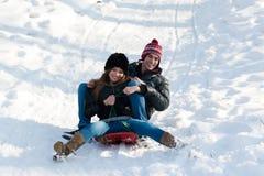 乐趣冬天 免版税库存图片