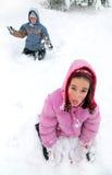 乐趣冬天 免版税库存照片