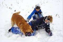 乐趣冬天 图库摄影