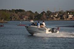 乐趣划船 库存照片