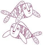 乐趣占星-双鱼座黄道带标志 免版税库存图片