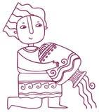 乐趣占星-宝瓶星座黄道带标志 免版税库存图片