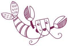 乐趣占星-巨蟹星座黄道带标志 免版税库存照片