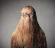 乐趣发型 免版税库存图片