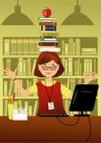 乐趣图书管理员 免版税库存图片