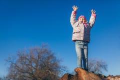 乐趣在公园在春天 免版税库存照片