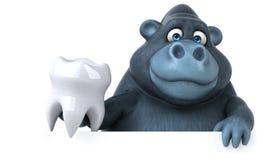乐趣大猩猩- 3D例证 免版税库存图片
