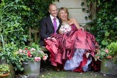 乐趣婚礼 库存照片