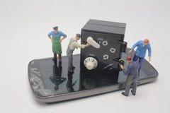 乐趣工作者形象的一个小组 免版税库存图片