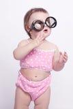 乐趣微笑婴孩 免版税库存照片
