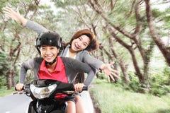 乐趣摩托车 免版税库存照片