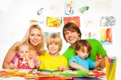 乐趣方式做父母您的孩子 库存照片