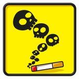 乐趣没有抽烟的符号 库存例证