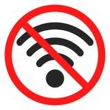 乐趣没有wifi象标志 库存例证