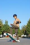 乐趣溜冰板运动 库存图片