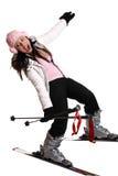 乐趣滑雪行程 免版税库存照片