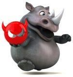 乐趣犀牛- 3D例证 图库摄影