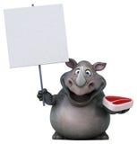 乐趣犀牛- 3D例证 库存图片