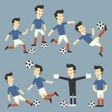 乐趣足球运动员 库存图片