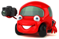 乐趣车的3D例证 库存图片