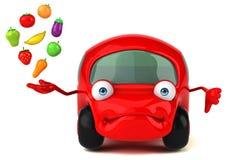 乐趣车的3D例证 免版税库存照片