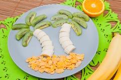 乐趣食物 热带的横向 免版税库存图片