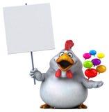 乐趣鸡- 3D例证 免版税库存图片