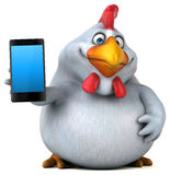 乐趣鸡- 3D例证 库存图片