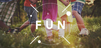 乐趣活动享受幸福享受乐趣概念 库存照片