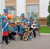 乐队指挥和他的军乐队 免版税库存图片