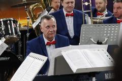 乐队的音乐家 免版税库存图片