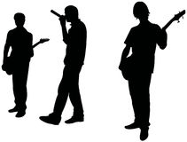 乐队音乐岩石十几岁 免版税库存照片