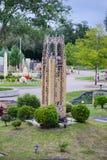 乐高微型城堡 库存照片