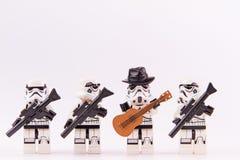 乐高星球大战吉他弹奏者 免版税库存图片