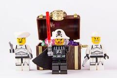 乐高星球大战和海盗珍宝 免版税库存图片