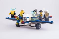 乐高飞机 免版税库存图片