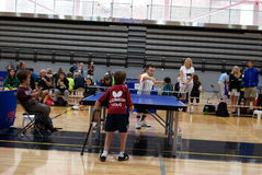 乒乓球世界矮人比赛2017年 免版税库存照片