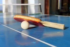 乒乓球或乒乓球 库存照片