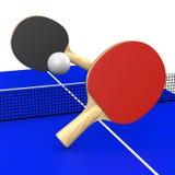 乒乓球比赛 免版税库存照片