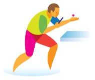 乒乓球球员哺养 免版税库存照片