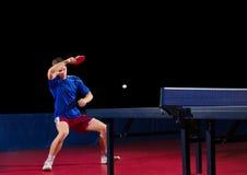 乒乓球球员被隔绝 免版税库存图片