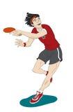 乒乓球球员 库存照片