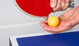 乒乓球球员 免版税库存图片